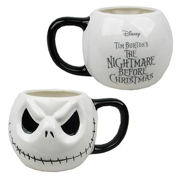 Nightmare Before Christmas Jack Skellington Head Mug - Monogram - Nightmare Before Christmas - Mugs at Entertainment Earth
