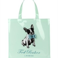 Dog print shopper bag - COTTCON by Ted Baker