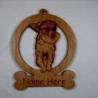 Golden Retriever Holding Frisbee Ornament by gclasergraphics
