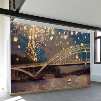 Lanterns Over Paris Wall Mural
