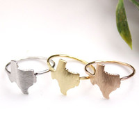 Texas (TX) Ring in gold / silver / pink gold, R0119K
