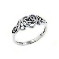 Sterling Silver Celtic Trinity Knot Heart Ring(Sizes 3, 4, 5, 6, 7, 8, 9, 10, 11, 12, 13, 14, 15): Jewelry: Amazon.com