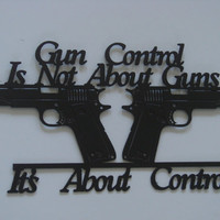 Gun Control 16 Gauge Metal 2nd Amendment Metal Wall Art