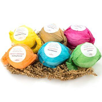 Bath Bombs Gift Set by Anjou, 6x3.5 Oz Lush Bath Bombs Kit, Best for Aromatherapy, Relaxation,...