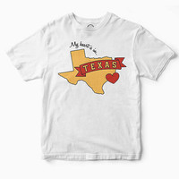UO Community Cares + Hurricane Harvey Relief Fund My Heart Is In Texas Tee | Urban Outfitters