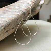 Medium Sterling Silver Hoop Earrings, Silver Hoop Earrings, Medium Hoop Earrings, Sterling Silver Hoop Earrings, Medium Silver Hoop Earrings