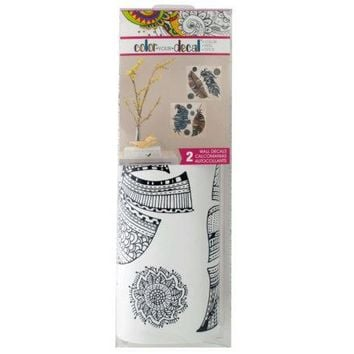 Color Your Decal Feathers Peel & Stick Wall Decals Set ( Case of 36 )