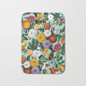 Summer Fruit Garden Bath Mat by burcukorkmazyurek
