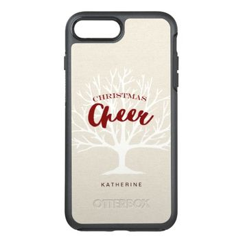 Vintage Christmas Cheer Script Holiday OtterBox Symmetry iPhone 7 Plus Case