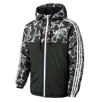 ADIDAS Woman Men Fashion Camouflage Cardigan Jacket Coat Windbreaker