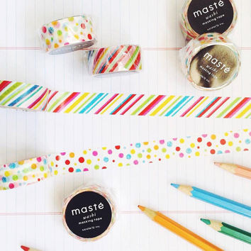 Colorful by masté mark's washi masking tape mt
