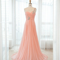 Brilliant A-line Floor-Length Prom dress/Evening dress