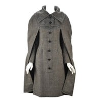 Amazing 1950's Christian Dior New York Houndstooth Cape and Dress Set