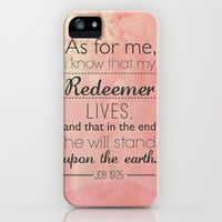 Job 19:25 iPhone & iPod Case by Pink Berry Pattern