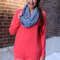 Brighten My Day Top - Coral