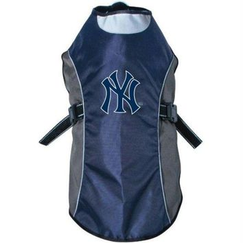 ONETOW New York Yankees Water Resistant Reflective Pet Jacket