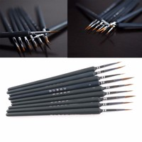 1Set 9Pcs Artists Brushes Brush Pen For Sketched Lines Gouache Watercolor Paint Oil Painting Supplies Tool Kit