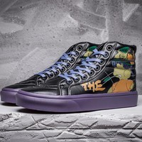 vans x peanuts sk8 hi simpsons leather flats ankle boots sneakers sport shoes