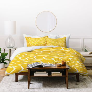 Heather Dutton Going Places Sunkissed Duvet Cover