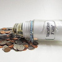 "Mason Jar ""Tattoo Fund"" Bank"