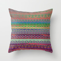 Ethnic Bracelet Throw Pillow by Nika