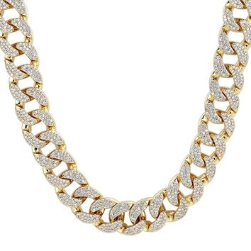 Men's Custom Iced Out 18mm Miami Cuban Link Necklace