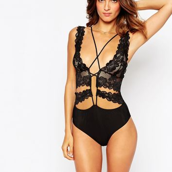 ASOS Joni Strappy High Apex Lace Body