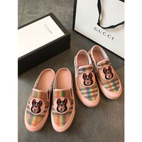 GUCCI Embroidery dog Slip-On Casual Sneaker