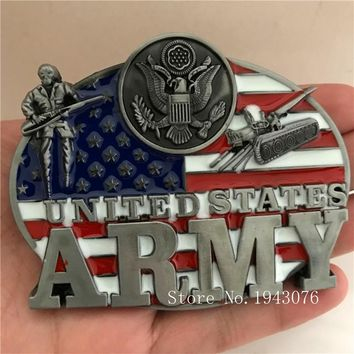 United States Army Men's Metal Belt Buckles
