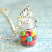 m&m's in a jar necklace