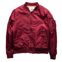 Men's Slim Flit Windbreaker Bomber Jacket
