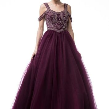Sweetheart Neck Ball Gown Dress