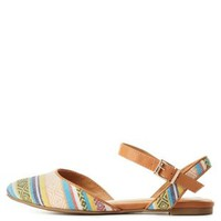 Natural City Classified Printed D'Orsay Flats by Charlotte Russe