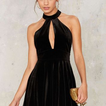 Nasty Gal Angels Forever Halter Dress