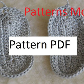 CROCHET PATTERN - Baby Street Shoes / Sneakers - Instant Download PDF,crochet soles patterns