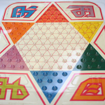 Vintage Tucket Toy Chinese Checkers Tin Board