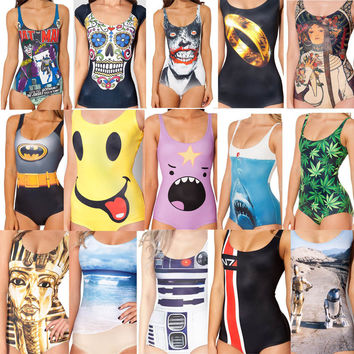 New 2014 Print Swimsuit Beachwear One Piece Swimwear Women Bathing Suit Brand Piece Cover Up Beach wear Free Shipping