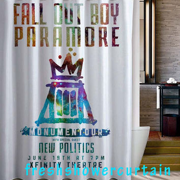Fall Out Boy Paramore Monumentour Shower Curtain