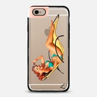 Vintage Bikini Redhead Pin Up Girl iPhone 6 case by Love Lunch Liftoff | Casetify