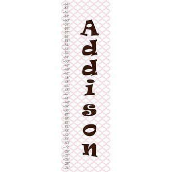 Personalized Patterned Growth Chart