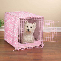 Sweet Safari 2-Piece Dog Crate Cover and Bed Set