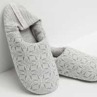Soft backless slippers with border detail - OYSHO