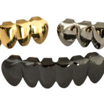 Grillz Plated Lower Bottom Teeth 3PCs (Limited Offer)