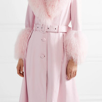 Saks Potts - Foxy shearling-trimmed leather coat