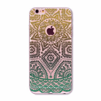 Green Lace Mandala Boho Case for iPhone 5 5s SE 6 6s