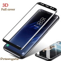 Full Cover HD 0.28mm 3D Curved Tempered Glass For Samsung Galaxy Note8 S6 S7 Edge S8 Plus S8+ Screen Protector cover Cases Film