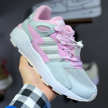 hcxx A1485 Adidas NEO 2019 Fashion Running Shoes Gray Pink