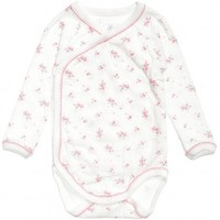 Baby Girls Pink Floral Cotton Bodysuit