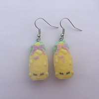 Shopkins Foodie Earrings - Shampoo Sue - repurposed toys