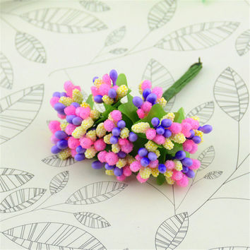 12pcs/lot Pearl Artificial Flowers Stamen / Wedding Favor Box Decor Beads Flower Diy Handmade Flowers Wedding Supplies Flower